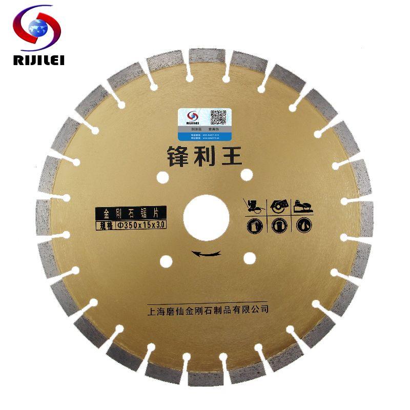 350mm * 50*3 Super forte dent renforcée béton route coupe diamant lames de scie marbre outils de coupe asphalte disque de coupe MX27