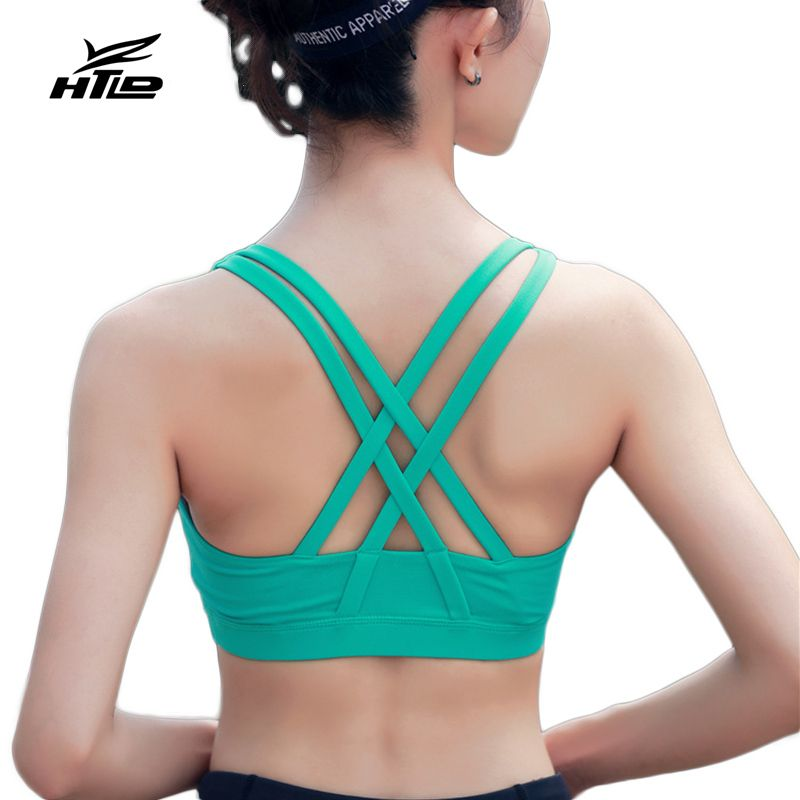 HTLD Turnhalle Hohe Grade Sport-Bh Frauen Fitness Running Bh Tops Yoga Querverband Übung Yoga Westen Stoßfest Sport Tank Tops