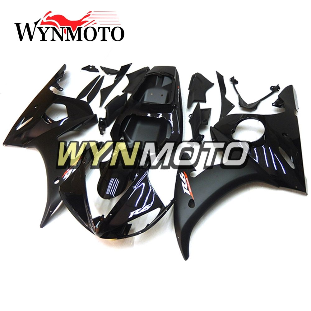 Complete Fairings Kit For Yamaha R6 2005 05 Year Injection ABS Plastics Bodywork Kit Motorcycle Black Cowlings Frames Motorbike