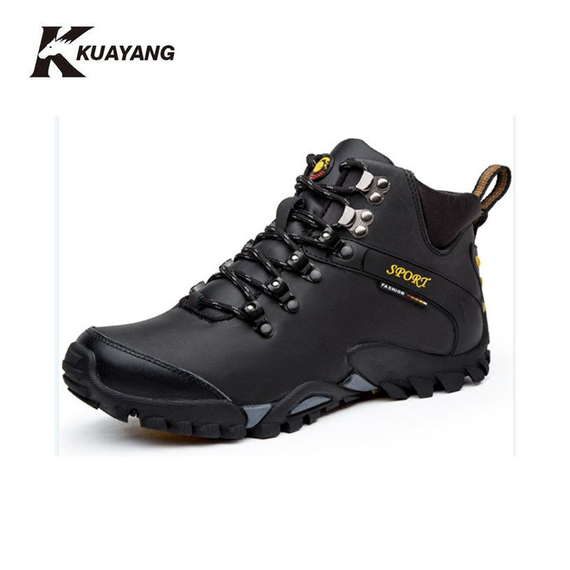 new boots winter shoes men military chuteira ankle botas hombre leather chaussure homme erkek bot black Winter medium(b,m)