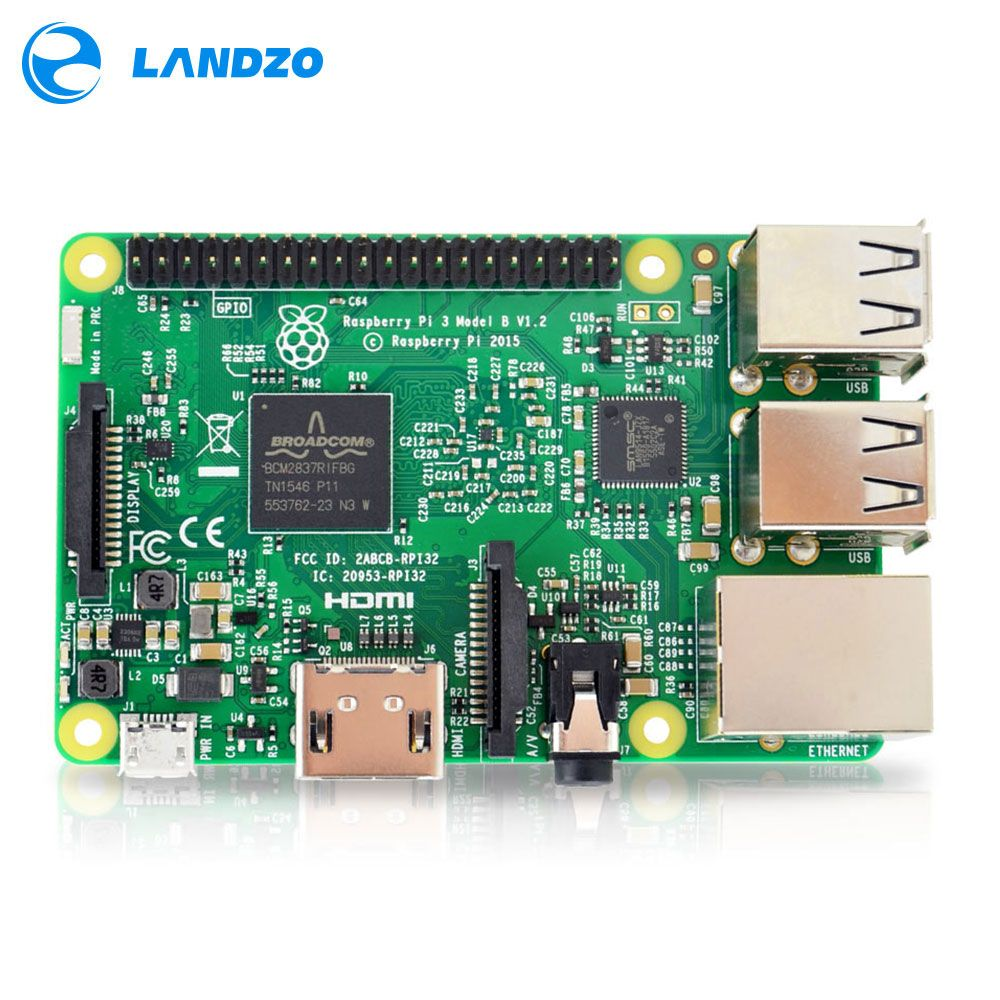 Raspberry Pi 3 Модель B доска 1 ГБ LPDDR2 BCM2837 quad-core RAS PI3 B, PI 3B, PI 3 b с Wi-Fi и Bluetooth 2016 Новинка (Element14 версия)