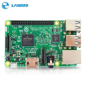Raspberry Pi 3 Modèle B Conseil 1 GB LPDDR2 BCM2837 Quad-Core Ras IP3 B, PI 3B, PI 3 B avec WiFi et Bluetooth 2016 Nouveau (L'etat Element14 Version)