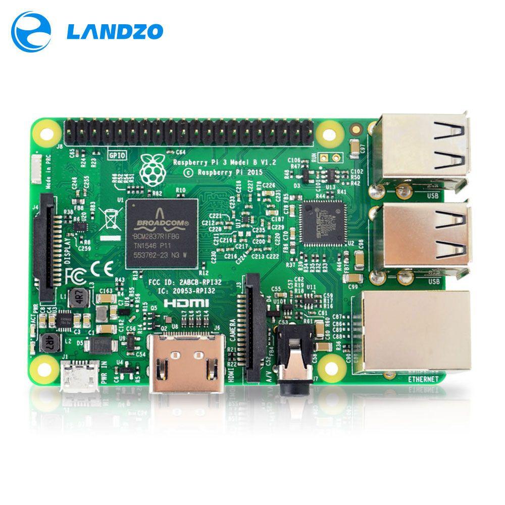 Raspberry Pi 3 Modèle B Conseil 1 gb LPDDR2 BCM2837 Quad-Core Ras PI3 B, PI 3B, PI 3 B avec WiFi et Bluetooth 2016 Nouveau (Element14 Version)
