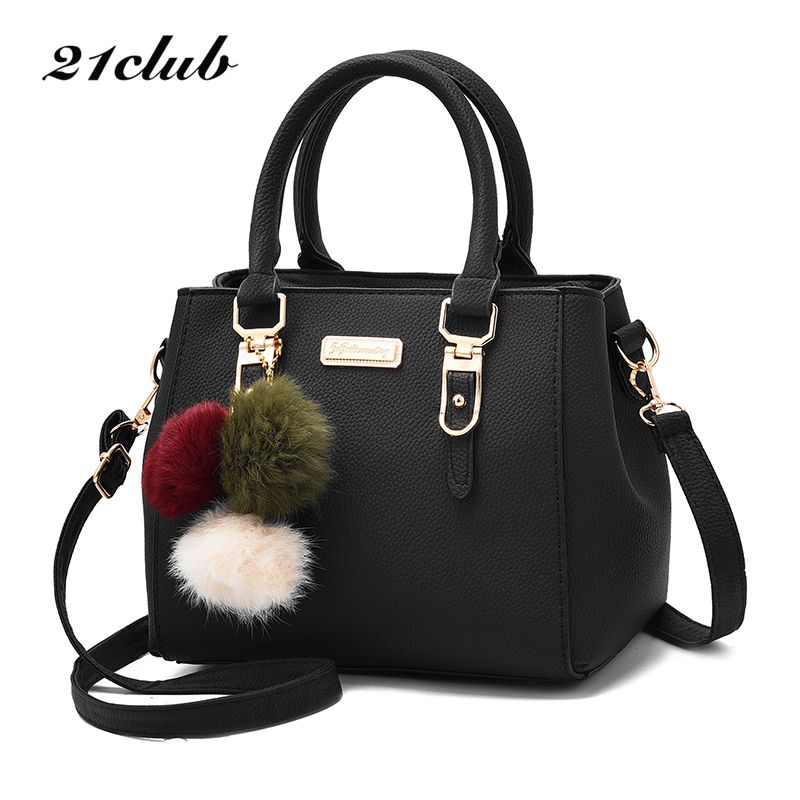 21club brand women hairball ornaments totes solid sequined handbag hotsale party purse ladies <font><b>messenger</b></font> crossbody shoulder bags