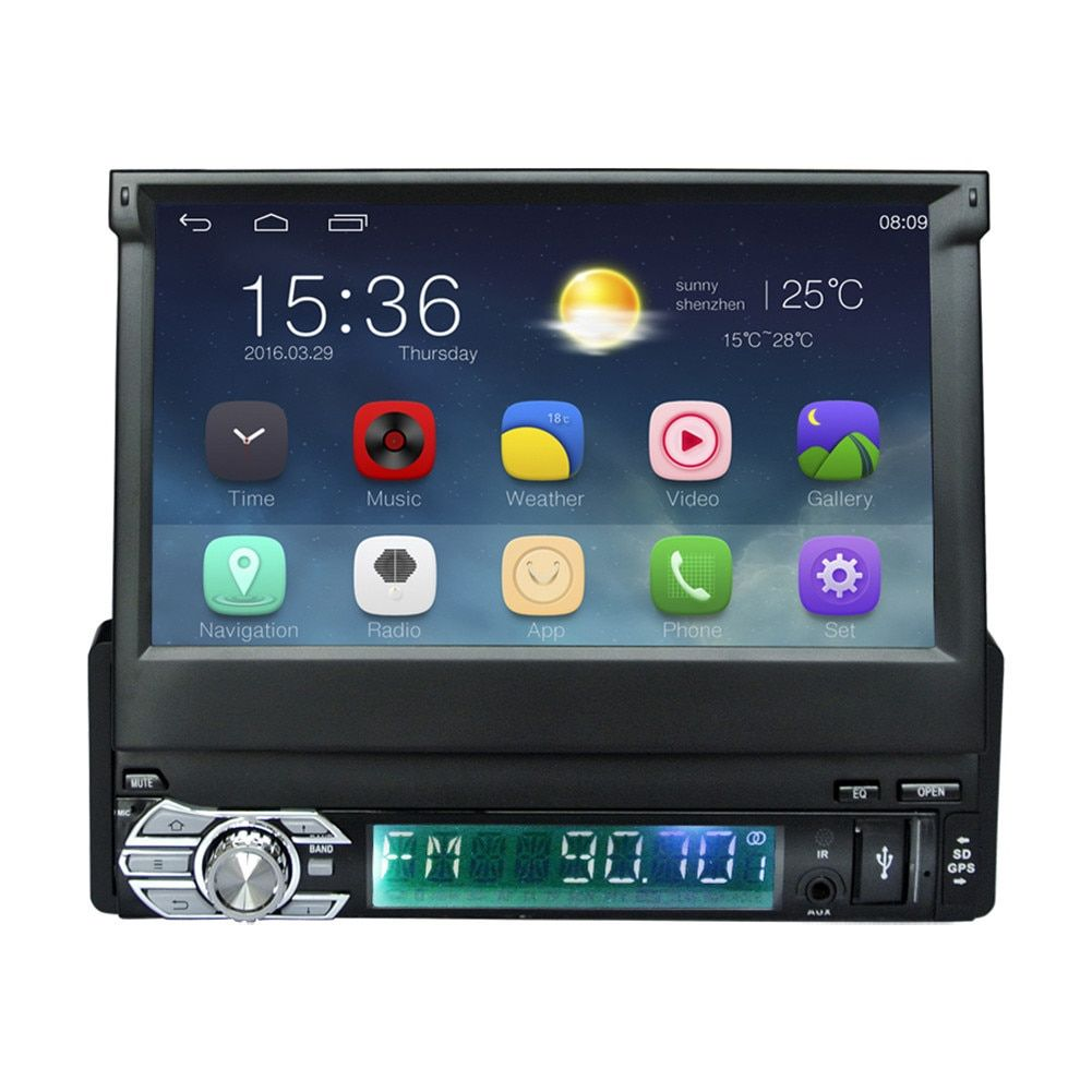 1Din Android 6.0 Car Radio Stereo 7