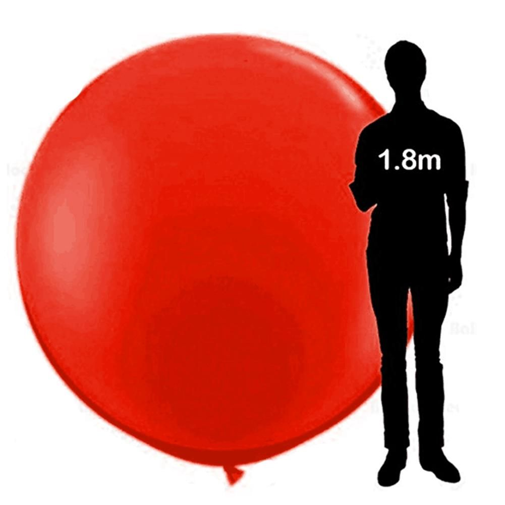 Adeeing 72 Inch Super Big Round Latex Balloon for Showing Decoration