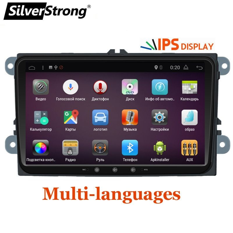 SilverStrong Jetta Car DVD Android7.1 Radio Quad Core Car ANDROID For VW Golf6 Golf5 Tiguan Passat B6 B7 Polo GPS Android 901BT3