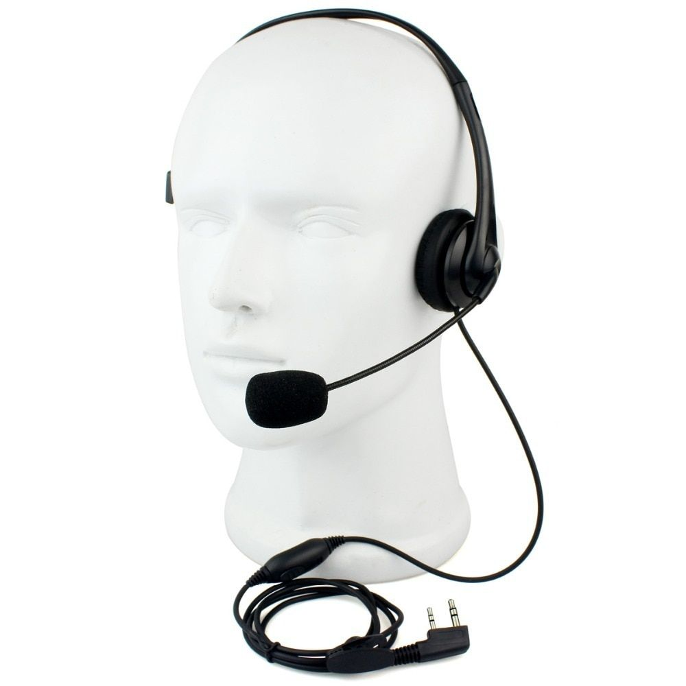 Retevis 2 PIN Headset PTT Mic Headphone Walkie Talkie Accessories For Kenwood For Baofeng UV5R 888S Retevis For TYT TH C9009A