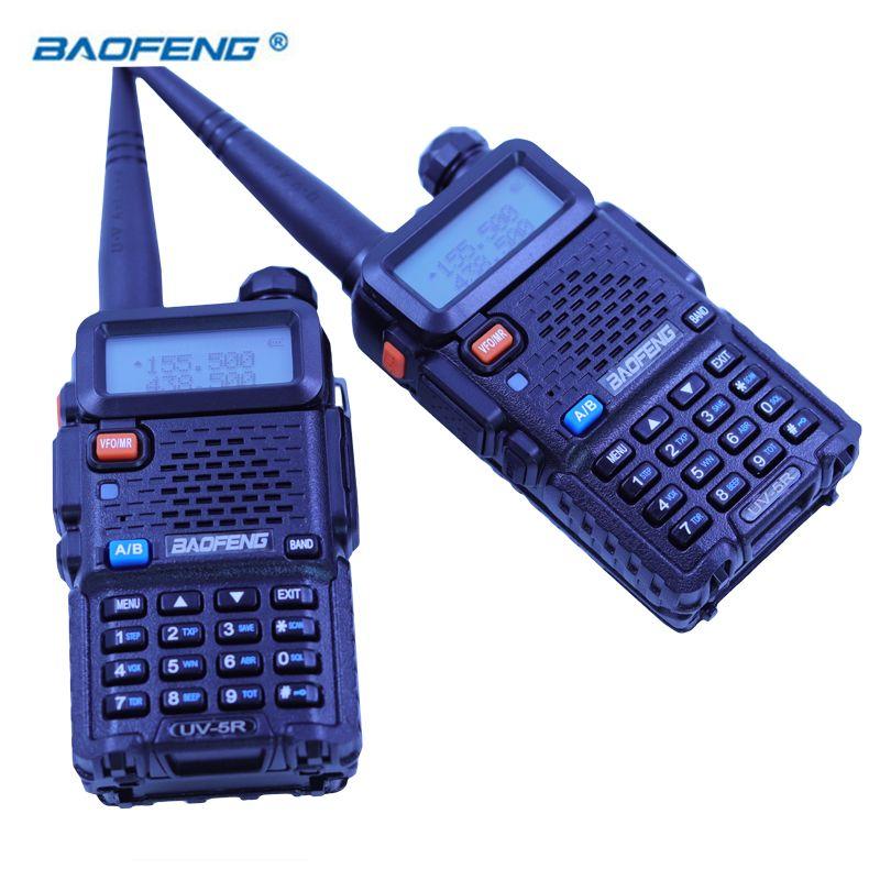 2 PCS Baofeng UV5R Walkie Talkie Dual Band HAM CB Radio 2 Way Portable Transceiver VHF UHF UV 5R Radios Hunting Station Stereo