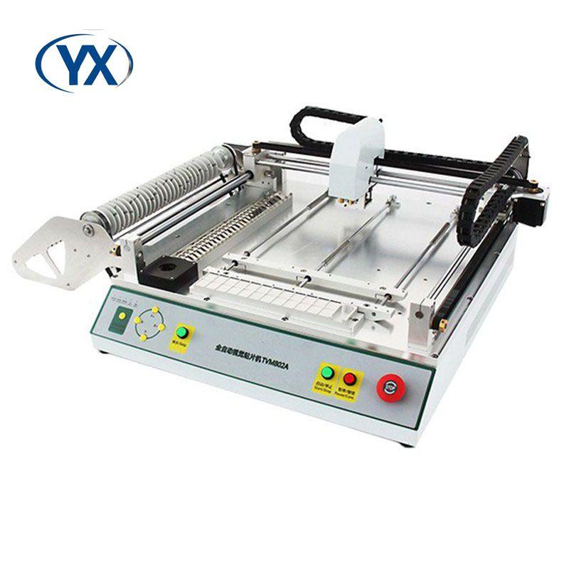 Manufaktur Versorgung Desktop SMT Pick und Ort Maschine TVM802A für Automatische Montage Linie Mit Vision System und 29Feeder