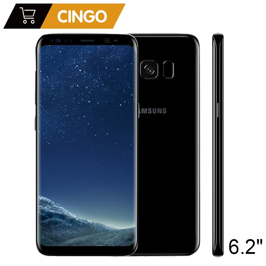 Original Samsung Galaxy S8 Plus SM-G955F 4 gb RAM 64 gb ROM 6,2 Einzelne Sim Octa Core Android Fingerprint 12MP 3500 mah S-serie