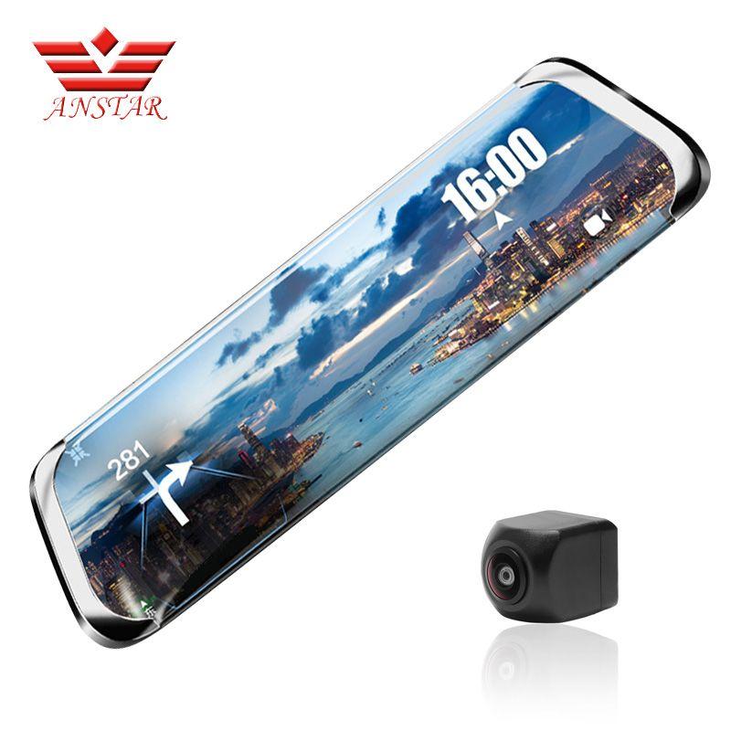 ANSTAR Dash Cam Full HD1920x1080P Rearview Camera ADAS WiFi 10''IPS 4G HD Night Vision Goggles Russian Language Vehicle Camera