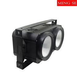 2x100 W LED COB 2 mata Blinder Efek Pencahayaan DMX Tahap Pencahayaan DMX Controller Klub Acara Malam DJ Disco Lampu Panggung Profesional