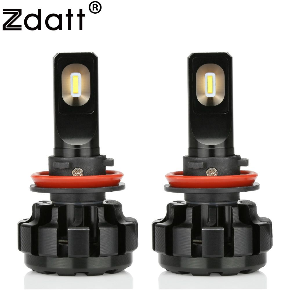 Zdatt 2Pcs Super Bright Led Lamp H11 H8 H9 Canbus Headlights 100W 12000Lm Car Led Light 12V Auto Lamp Automobiles Headlamp 6000K