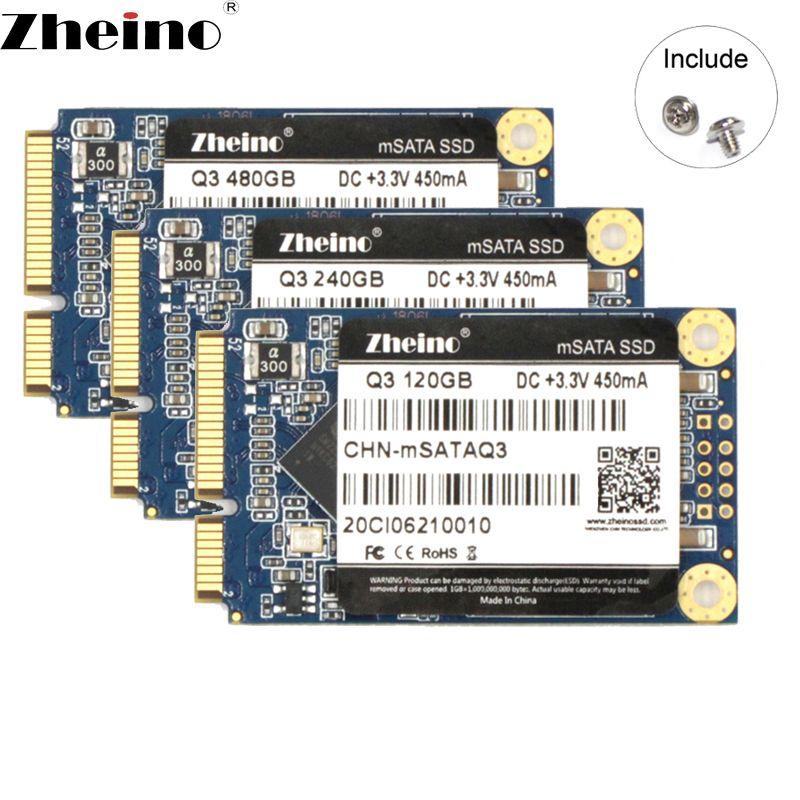 Zheino mSATA SSD 120GB 240GB 480GB 128GB 256GB 512GB 6GB/S SATA3 ssd Internal Solid State Drive Disks For Laptop Desktop