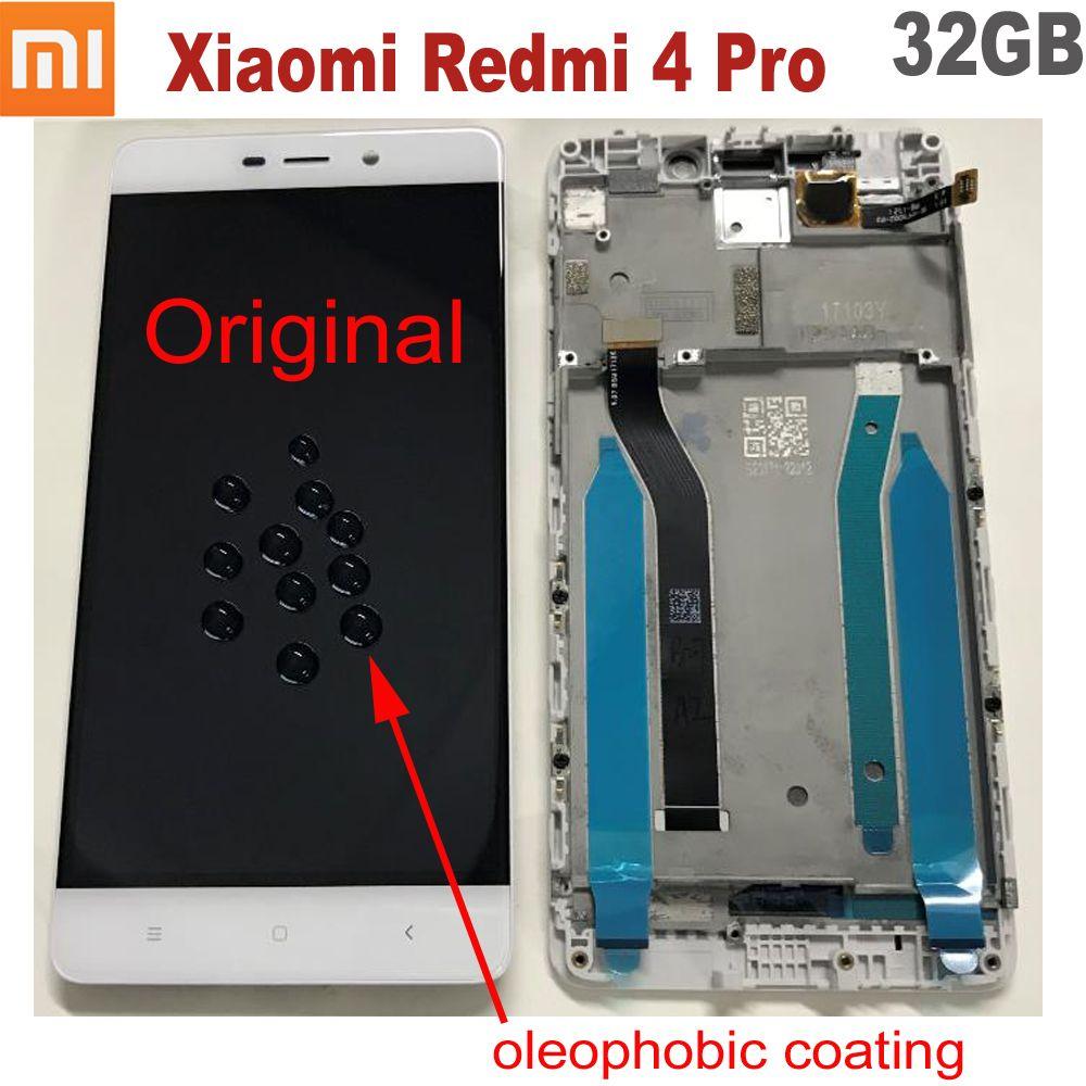 100% Original nouveau travail Xiaomi Redmi 4 Pro 10 écran tactile numériseur LCD affichage assemblée capteur avec cadre Redmi 4 Prime 32GB