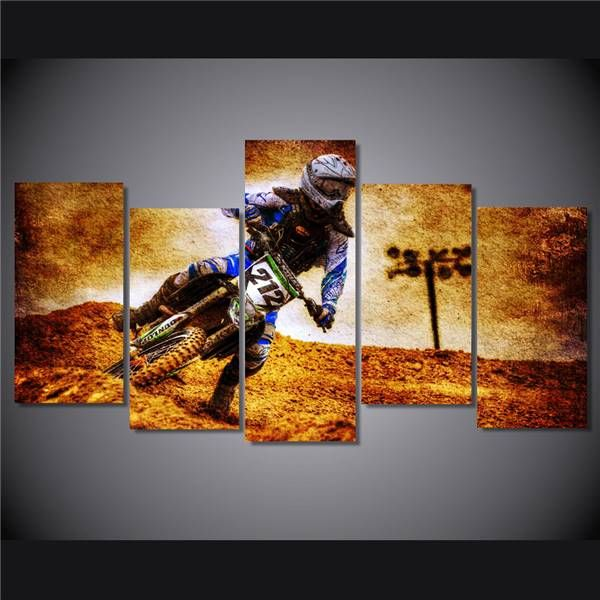 Hd Printed Motocross Picture Painting On Canvas Room Decoration Print Poster Picture Canvas Free Shipping/Ny-4115 NO Framed
