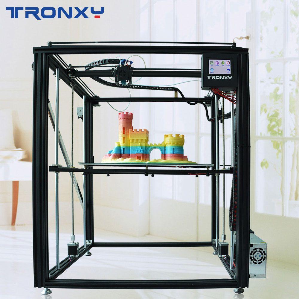 TRONXY 3D drucker X5ST-500-2E dual farbe DIY maschine kerne druck große größe MK8 extruder