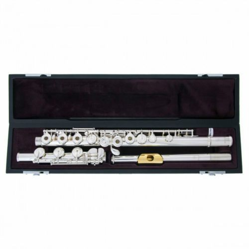 Brand New C Tone Metal Flute YFL 372H Cupronickel Tube Sliver Plated Surface With E Key Split Instrument With Case