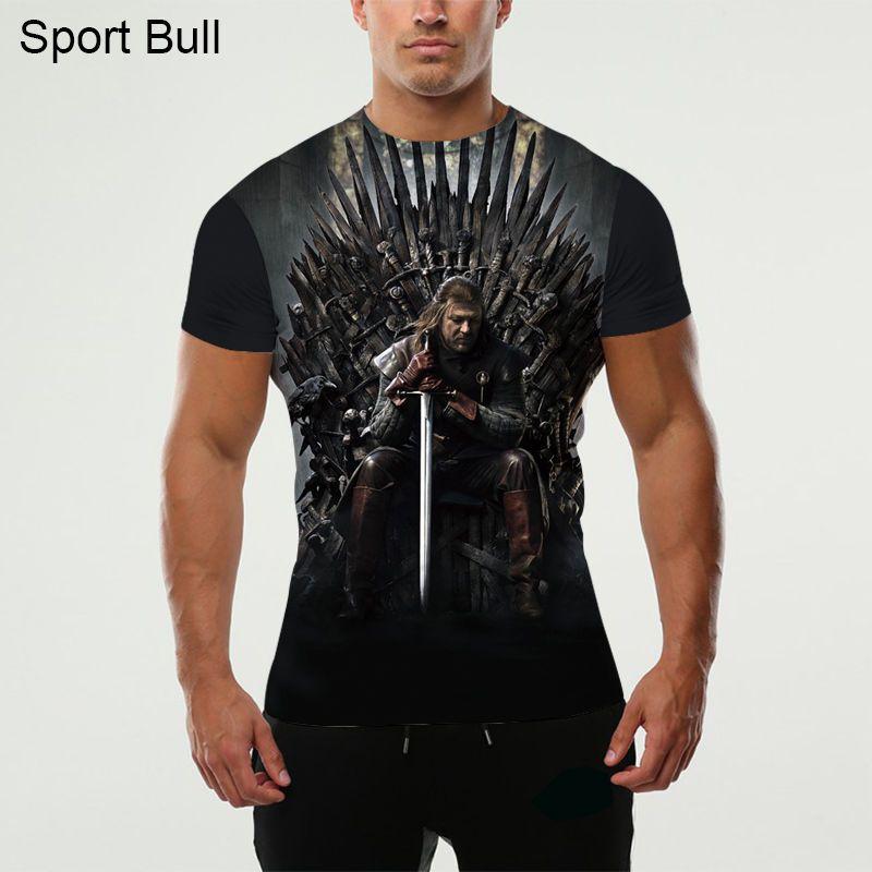 KYKU Game Of Thrones T-shirt Hommes 3d T-shirt Le Trône Drôle T Shirts Hip Hop Tee Cool Vêtements Pour Hommes 2018 D'été Hippie Tops