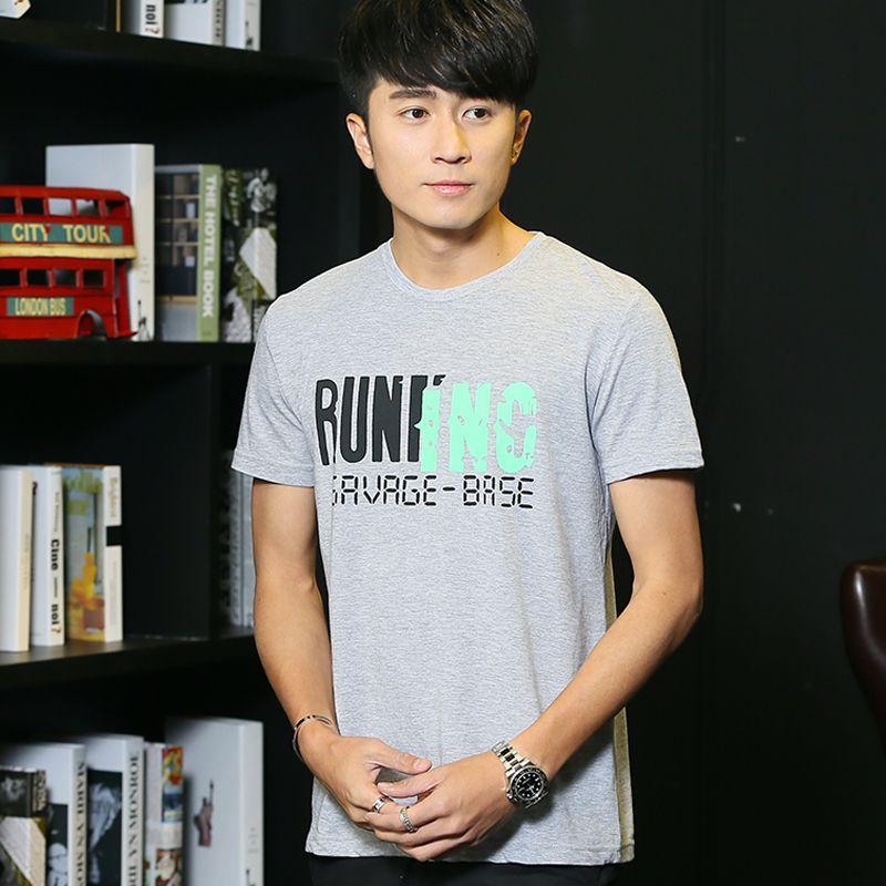 2017 T-shirt male short-sleeve o-neck slim basic shirt summer brief short-sleeve t shirt