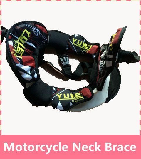 Motocicleta Neck Brace tirantes ligero fuerte protector Armor montar en moto de Motocross neck Brace guardia 4 tamaño juntos