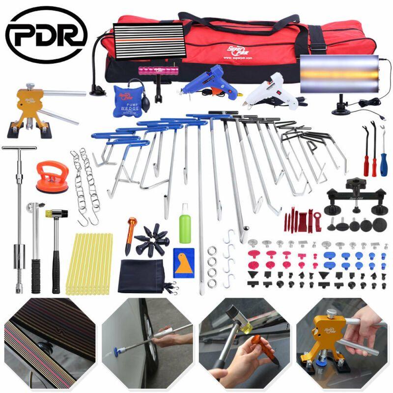 PDR Werkzeuge Ausbeulen ohne Reparatur Entfernung Stangen LED Lampe Reflektor Bord Puller Lifter Reverse Hammer PDR Push Stangen Brecheisen Kit