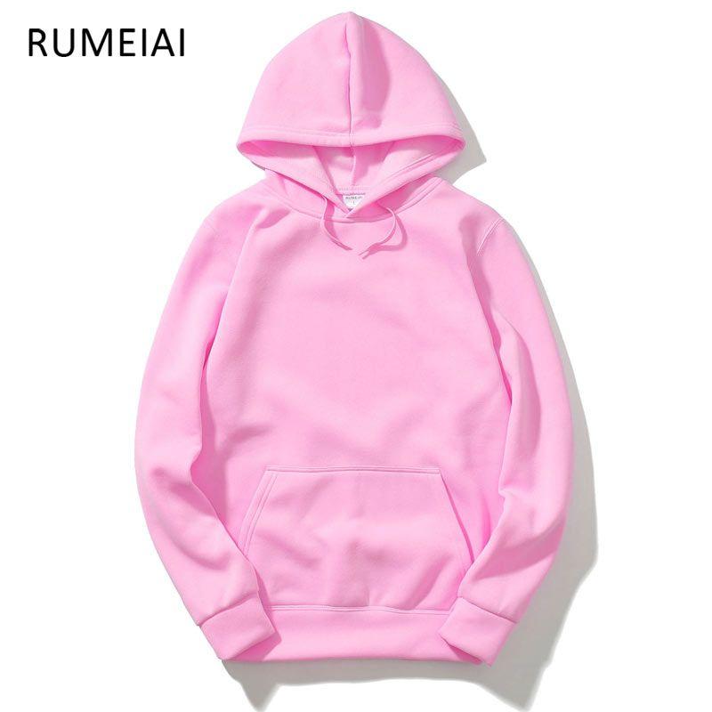 RUMEIAI 2017 New pink/black/gray/red HOODIE Hip Hop Street wear Sweatshirts <font><b>Skateboard</b></font> Men/Woman Pullover Hoodies Male Hoodie