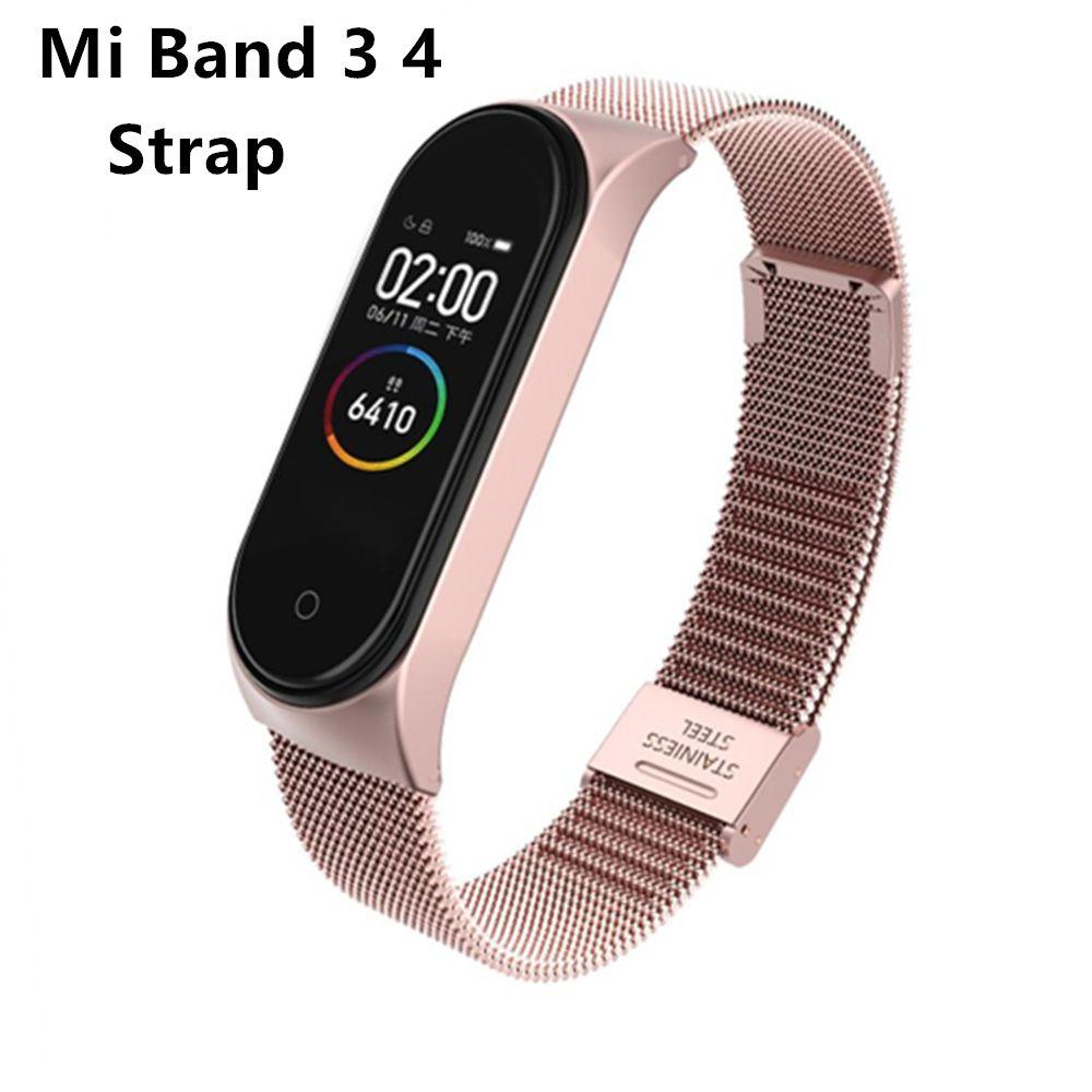 Mi Band 3 4 Wrist Strap Metal Screwless Stainless Steel For Xiaomi Mi Band 4 3 Strap Bracelet Miband 4 3 Wristbands Pulseira