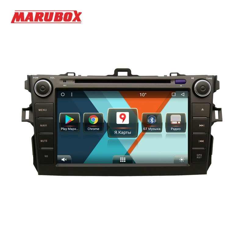 MARUBOX 8A105MT8 Car Multimedia Player for Toyota corolla 2007 - 2011,8 Core, Android 8.1,DVD,GPS,Radio, 2GB RAM, 32GB ROM