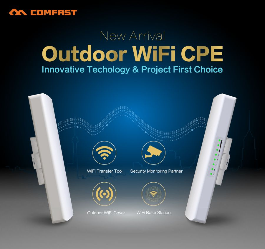 1-3KM WIFI Range Wireless Outdoor CPE Router WIFI Extender 2.4G 300Mbps WiFi Bridge Access Point AP Antenna WI-FI Repeater