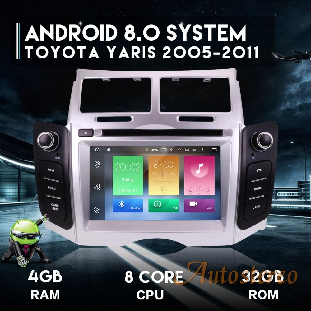 Andriod7 Android8.0 Car DVD Player Radio Car GPS Navigation System Unit for Toyota Yaris 2005-2011 auto stereo multimedia stereo