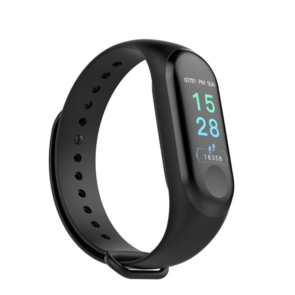 M3 Plus bande intelligente Bluetooth sport Fitness Tracker Bracelet intelligent sommeil sain pression artérielle moniteur de fréquence cardiaque PK Mi bande 3