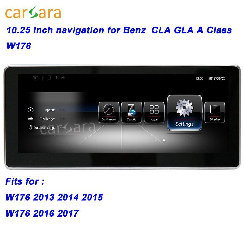 W176 Car GPS Navigation Head Unit for Mercedes CLA/GLA/A Class Smart Radio Stereo 10.25 Big Screen for Ben z 13-17 Multimedia