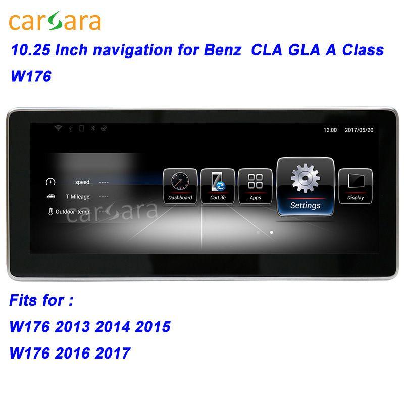 W176 Car GPS Navigation Head Unit for Mercedes CLA/GLA/A Class Smart Radio Stereo 10.25 Big Screen for Ben z 13-17 Multimedia