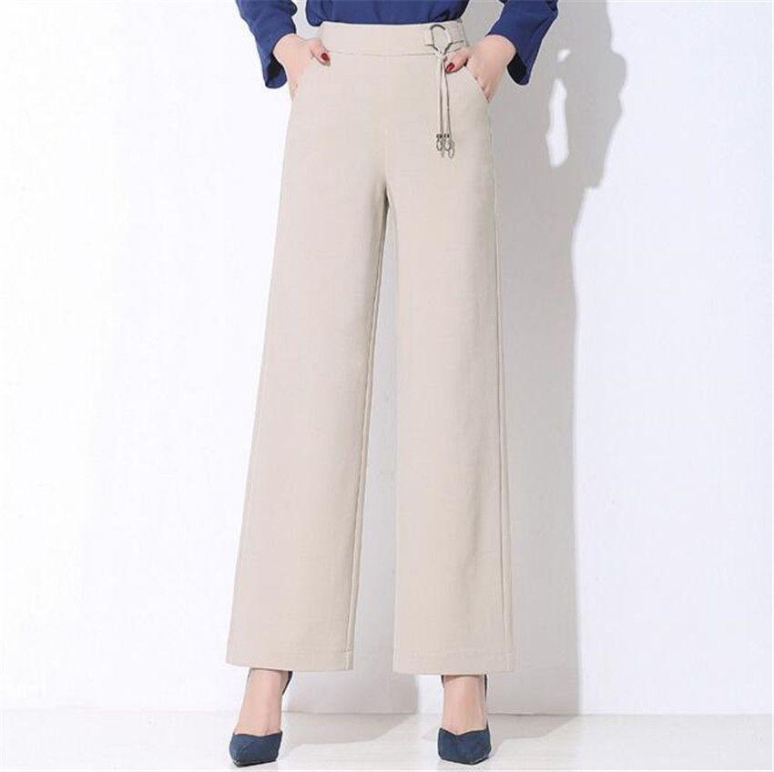 MLCRIYG new Spring skin loose broad leg pants elegant display thin trousers 4 color straight tube trousers