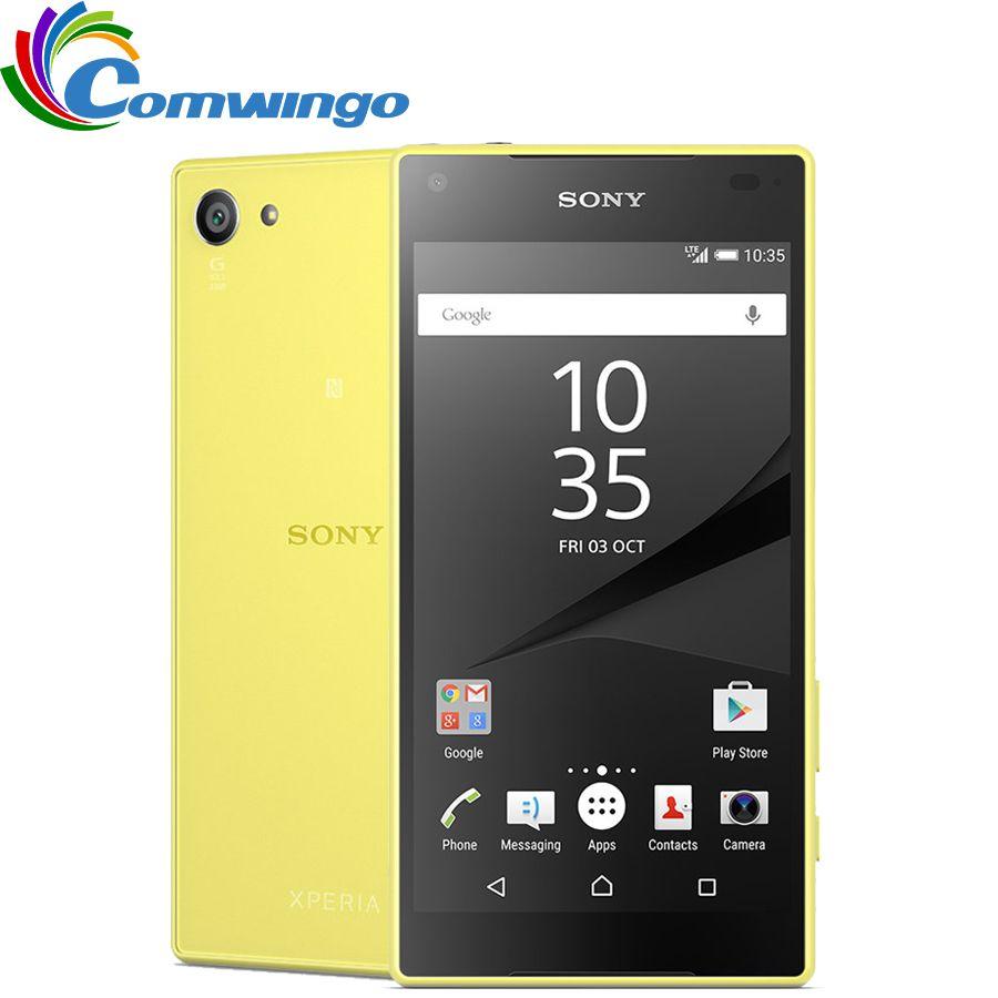 Original Sony <font><b>Xperia</b></font> Z5 Compact E5823 Unlocked RAM 2GB ROM 32GB GSM Android Quad-Core&Quad Core 4.6 23.0MP Smart Phone