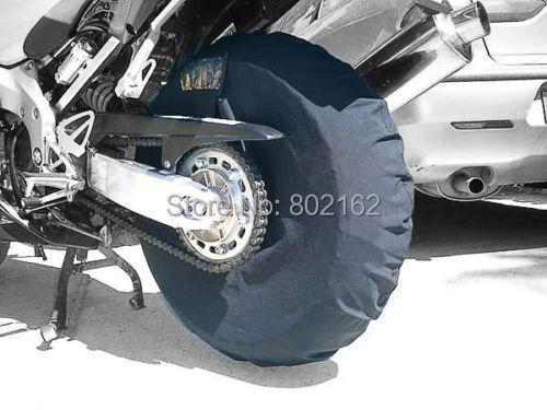 Tire Warmer fasten heating Windstop Tyre Cover Polar Fleece Windbreak 12/17 inch Black