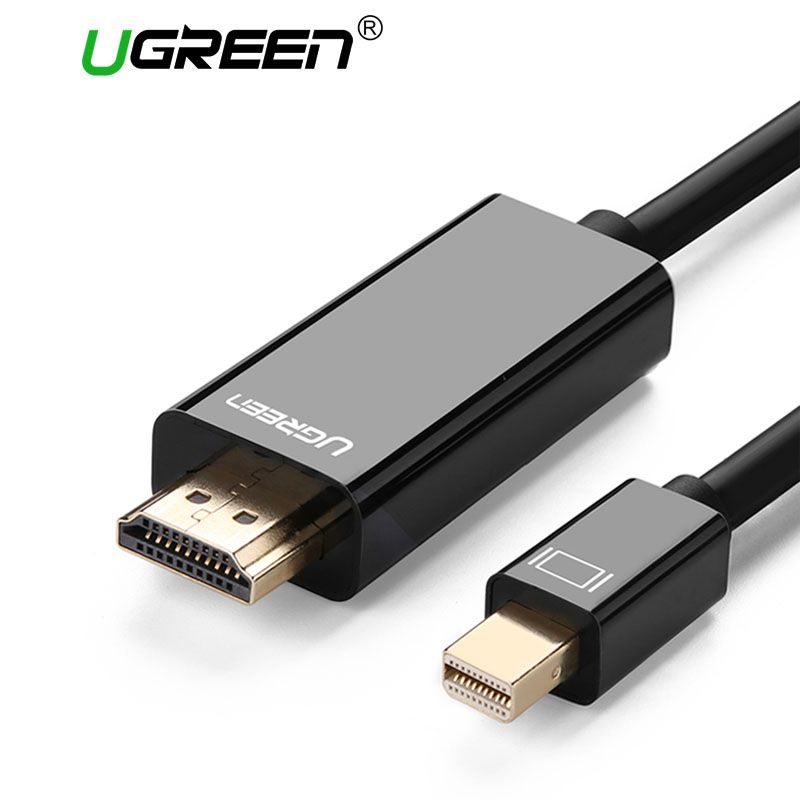 Ugreen Thunderbolt Mini Displayport DP vers HDMI Câble Adaptateur Mini DP à HDMI Convertisseur Câble à HDMI Câble Adaptateur 4 K * 2 K 3D