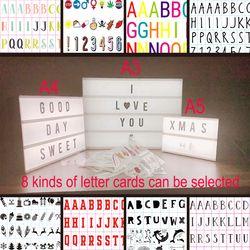 Combinación DIY noche LED caja de luz lámpara de mesa A3 A4 A5 carta tarjetas lámpara Led Nightlight cine Lightbox como gif IY303206-1