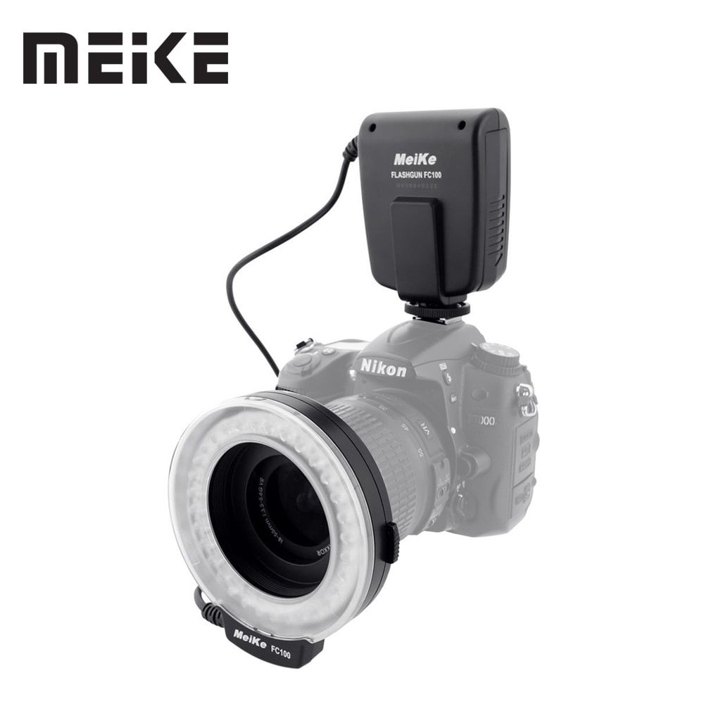 Meike FC-100 Macro Ring Flash/Light for Canon EOS 600D 50D 60D 650D 700D 70D 6D 450D 7D 550D 5D Mark II III 1100D T5i T4i T3i T3