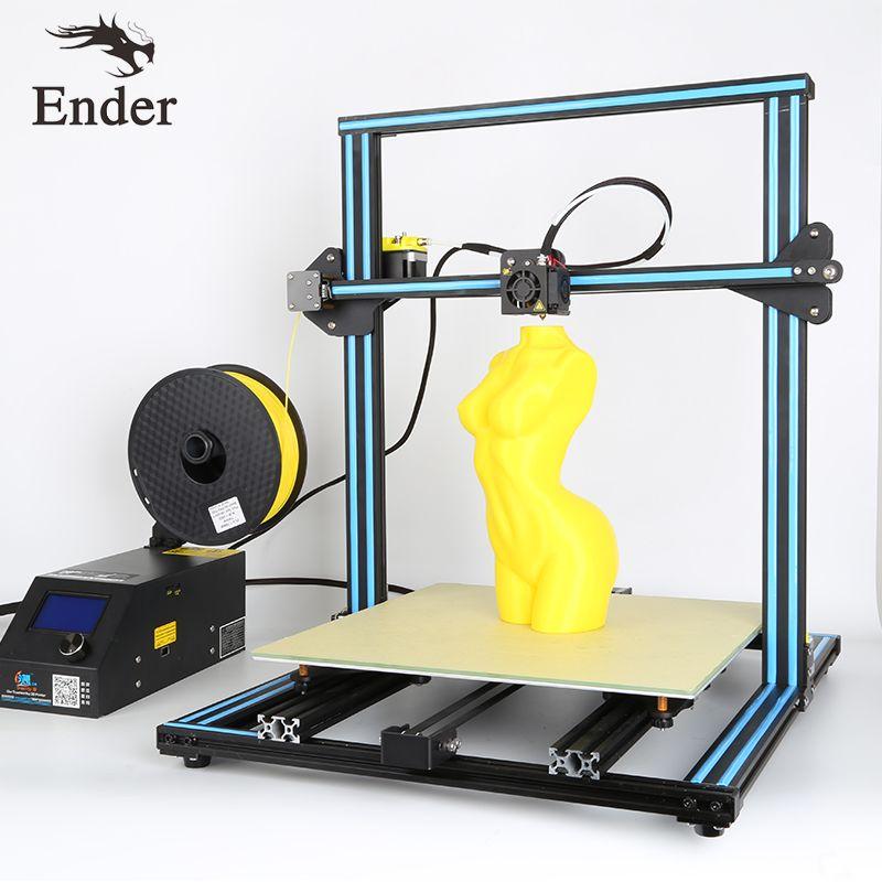2018 Лидер продаж cr-10 4S 3D принтер DIY Kit Dual Z стержень Шурупы, 400*400*400 мм нити мониторинга сигнализации, крупный принт Размеры creality 3D