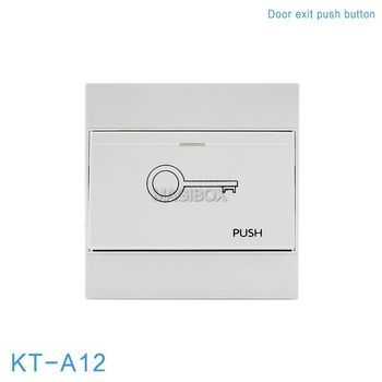 Door Exit  Push Button NO NC Model Door release for Door Access Control 86*86mm KT-A12