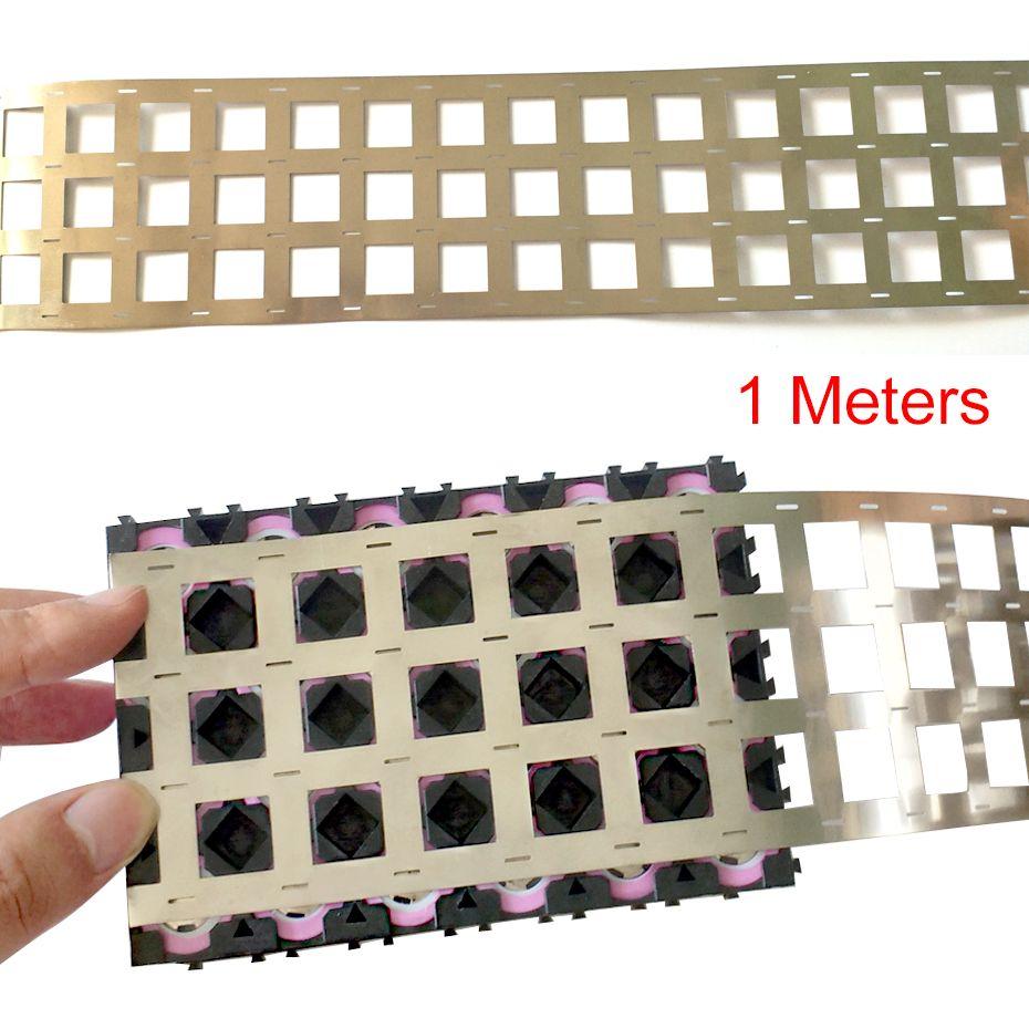 1 Meters Pure Nickel Strip 4P 99.96% High Purity Nickel Belt Lithium Nickel Strip Li-ion Battery Ni Plate For 18650 Spot Welding
