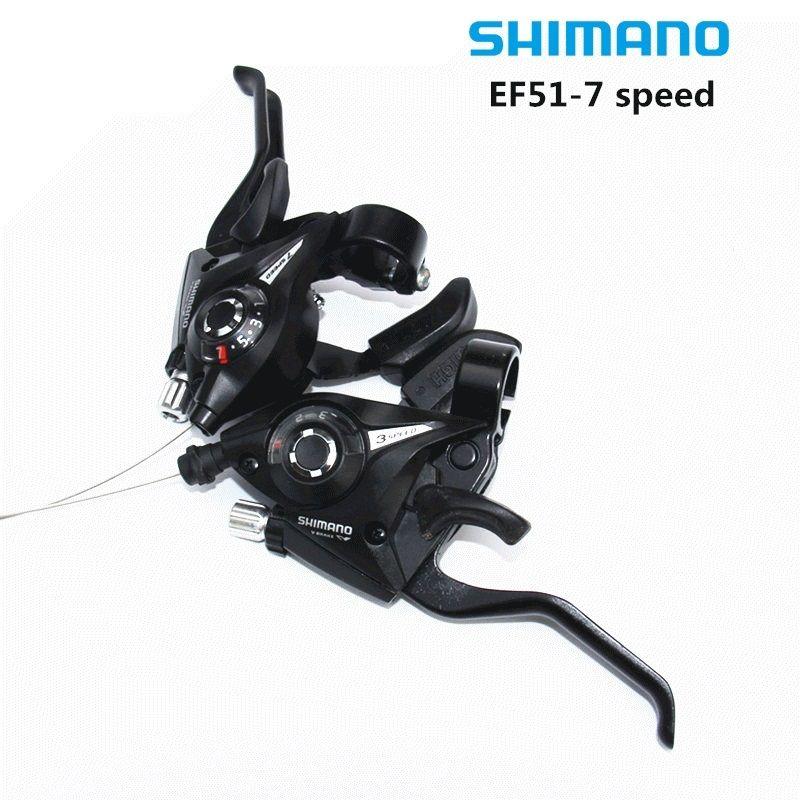 SHIMANO EF-51 Bike Bicycle Shifter/<font><b>Brake</b></font> Lever Combo 3 x 7speed Shifter (3 x 7 Speed/8 Speed )
