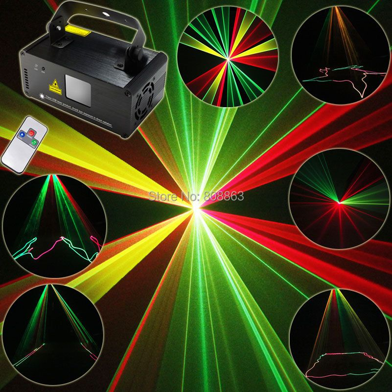 ESHINY 250 RGY Laser Lines Beam Scans Remote DMX DJ Dance Bar Coffee Shop Xmas Home Party Disco Lighting Effect Light Show B116