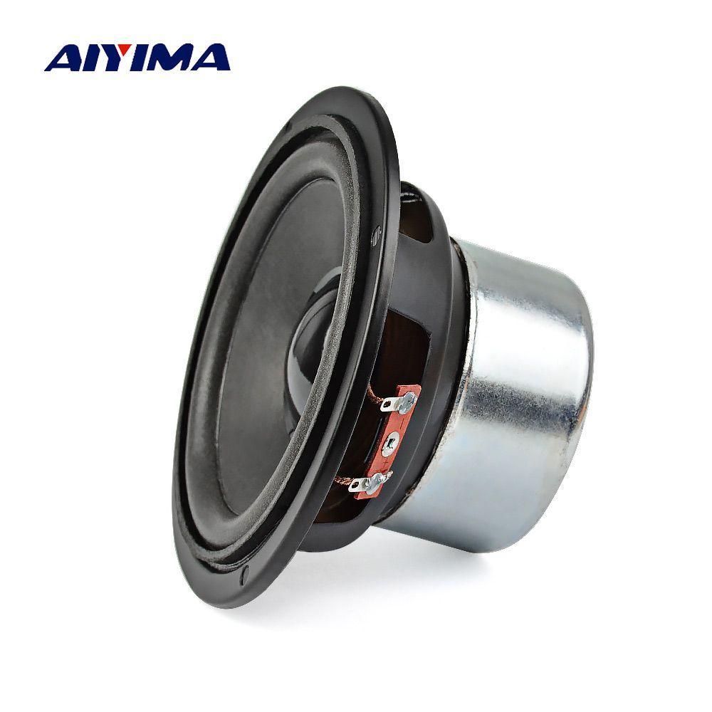 AIYIMA 1 pc 4 pouce Audio Subwoofer Haut-Parleur 30 w 8 ohm Woofer Médium Basse Informatiques Pour Home Cinéma son Système