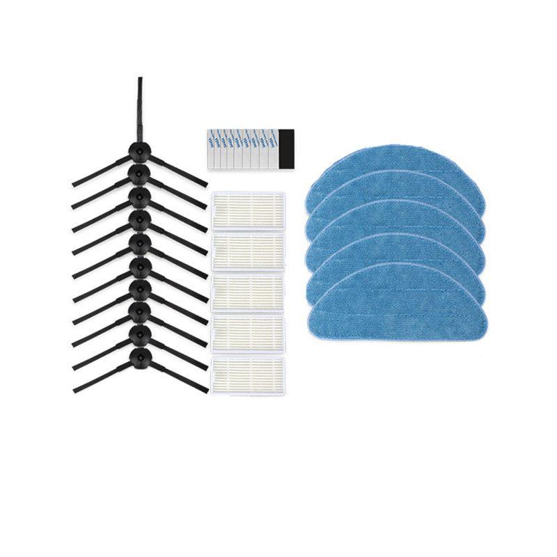 V5S Pro Robotique Aspirateur Brosse Latérale filtre HEPA Vadrouille Tissu Pâte Magique pour ilife v5s pro V50 V55 X5 v3s pro Robot Pièces