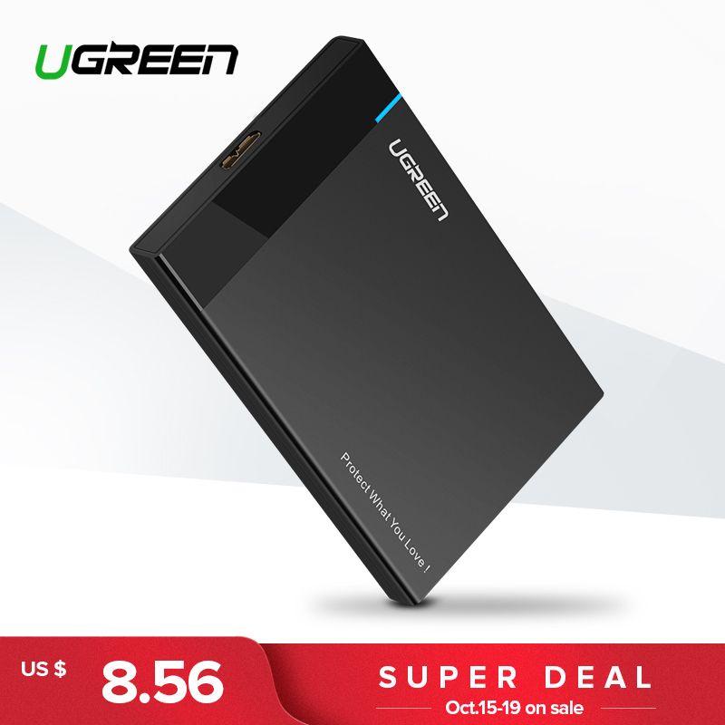 Ugreen HDD Cas 2.5 pouce SATA à USB 3.0 SSD Adaptateur pour Samsung Seagate SSD 1 tb 2 tb Dur disque Boîte Externe HDD