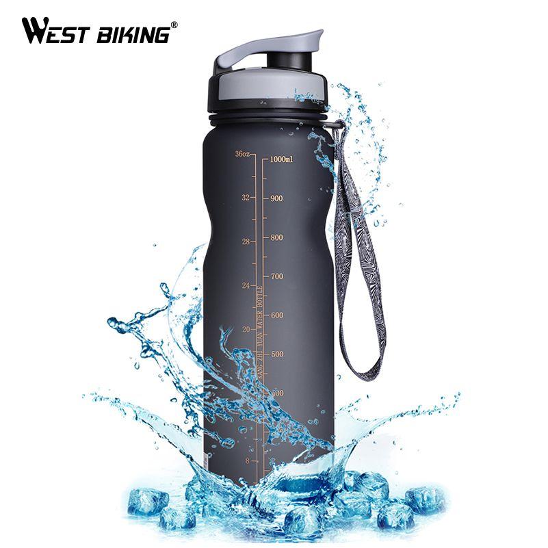 WEST BIKING Bicycle Water Bottle 1000ML Direct Drinking Sport Bottles Filter Portable Kettle Leak-Proof Cup Cycling Drink Bottle
